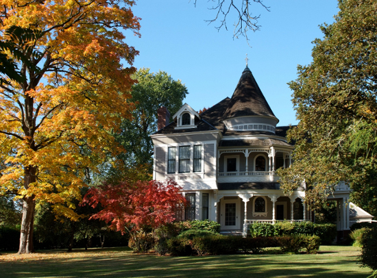 The Settlemier House in Fall