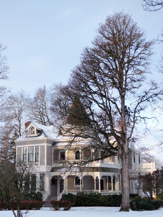 Settlemier House in Winter