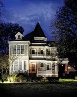 The Settlemier House with Lights On
