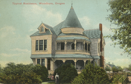 Old Postcard featuring the Settlemier House